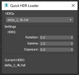 Quick HDRI loader UI